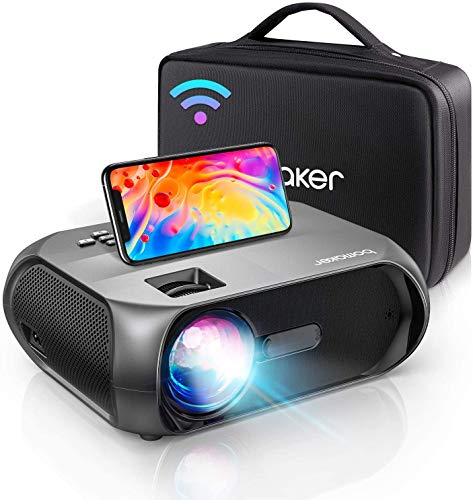 Bomaker WiFi HD 1080P Projector, Native 1280x720P Wi-Fi Mini Projector, Portable Outdoor Movie Projector, Wireless Mirroring by WiFi/USB Cable, for Android/Laptops/Windows Florida