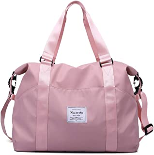 Pastel Pink Diamond Pattern Weekender Bag