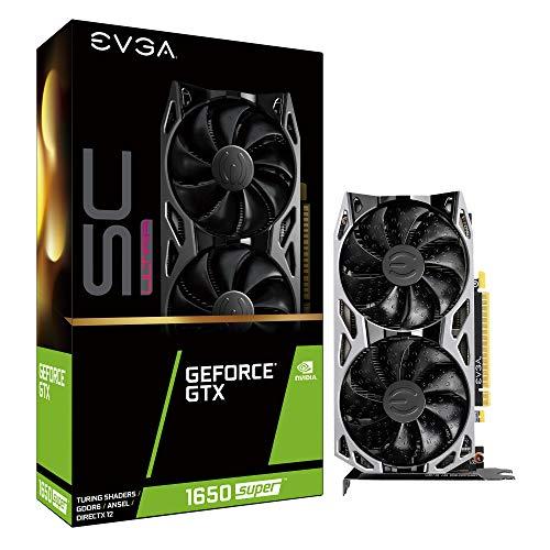 EVGA GeForce GTX 1650 Super SC Ultra Gaming, 4GB GDDR6, Dual Fan, Metal Backplate, 04G-P4-1357-KR