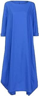 Jojckmen Women Girls Plus Size Loose Dress Long Sleeve O Neck Summer Party Dress