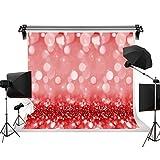 Kackool 6.5ftx5ft / 2m(W)x 1.5m(H)写真のシンプルな背景光の背景赤ちゃんの誕生日の写真スタジオのための夢のような赤い背景