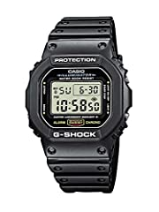 With its high-tech functions, shock resistance, and comfortable resin strap, this Casio watch is a reliable go-to timepiece. Quartz digital movement with accuracy of +/- 15 seconds per month Functions include multi-function alarm, 1/100-second stopwa...