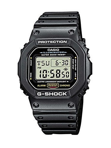 Casio Men's G-Shock Quartz Watch with Resin Strap, Black, 20 (Model: DW5600E-1V) Change Time Casio G-shock Watch