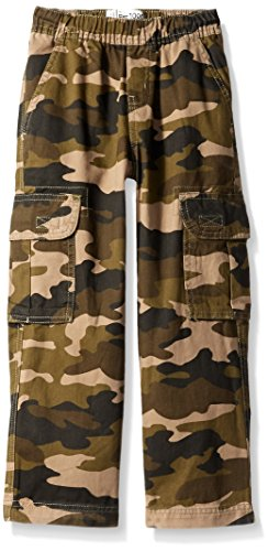 The Children's Place Big Boys' Slim Pull-On Cargo Pant, Olive Camo, 8S