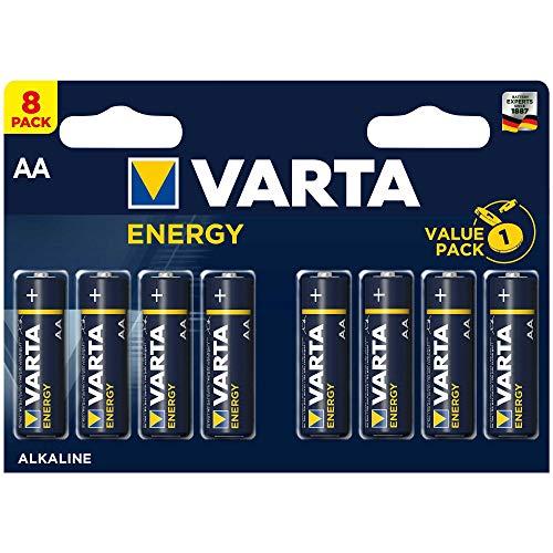 Varta 4106 - Pack de 8 Pilas alcalinas AA, Color Azul