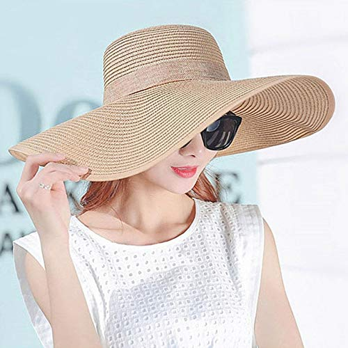 Zhouzl Sombrero de máscara extraíble Sombreros de Verano para Mujer Sombrero Ancho...