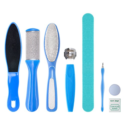 Gospire 8 in 1 Professional Pedicure kit/Set Pedicure Foot Rasp Foot File and Callus Remover Sided Remove Set Best Foot Care
