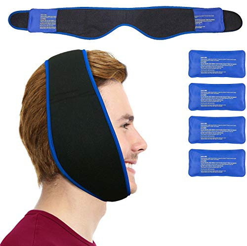 Best Review Of Face Ice Pack - Use as Wisdom Teeth Ice Pack, TMJ Relief Products, Jaw Pain - Hot & C...