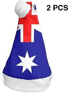 YISHOW Australia National Flag Classic Handmade Soft Christmas Hat and Santa Hats (2pcs)