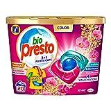 Bio Presto Bio Presto Power Caps Color, detergente preformado en cápsulas para prendas de colores, paquete de 20 lavados – 260 g