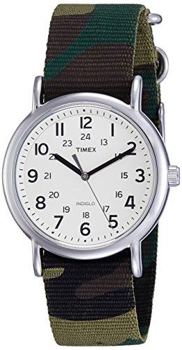 Timex T2P365 Timex Weekender Full-Size Slip Thru Watch - Green C