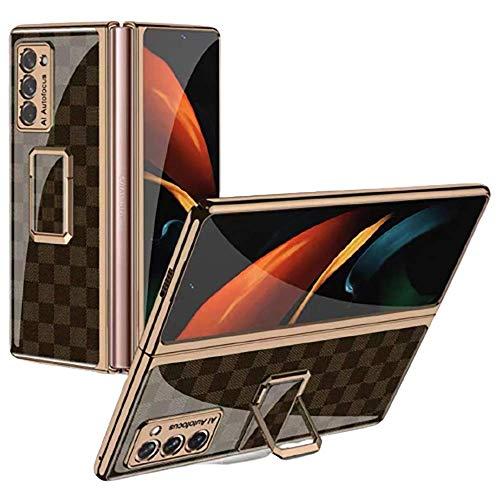 XJZ Compatible avec Samsung Galaxy Z Fold 2-5G Smartphone Housse Étui(2020)+3D Ecran de Protection en Verre Trempé/Antichoc Coque Support pour Galaxy Z Fold 2-16