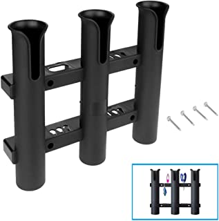 Grost Koning Rod Holders for Boat - Tournament 3 Rack Rod Holder-Replacement Parts and Accessories for Tournament Fishing, Deep Sea Fishing and Trolling - Fishing Pole Side Mount Rod Holder