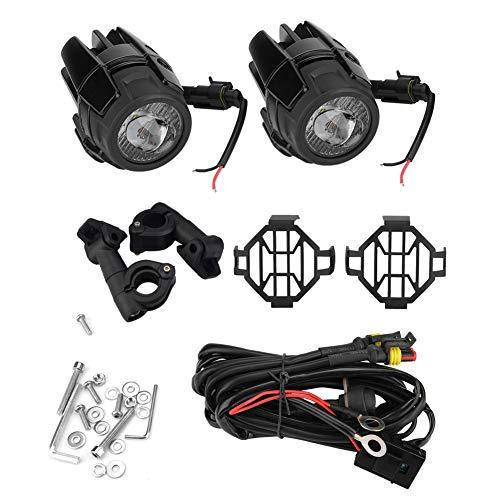 2pcs Phares Antibrouillard de Moto, Keenso Feux de Brouillard 40W Ultra-lumineux Imperméables LED Lampe de Conduite Auxiliaire