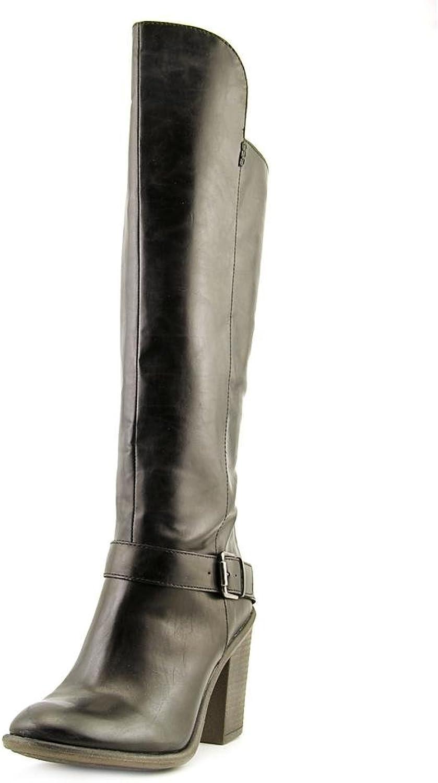 Mia Mollie Womens 8.5 Black Faux Leather Fashion Knee-High Boots