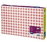 Tork 474540 Manteles individuales desechables con decoración de cuadros blanco y rojo/Advanced / 1 capa/Salvamanteles de papel con motivo / 500 manteles / 42 cm x 27 cm