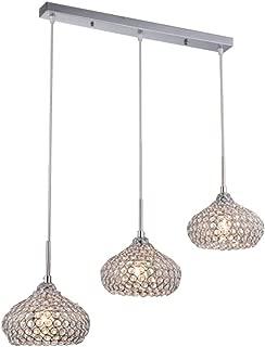 DINGGUChrome Finish Modern 3 Lights Crystal Chandelier...