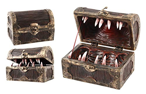 Forged Dice Co Mimic Chest Dice Storage Box - Container Holds up to 5 Sets of Polyhedral Dice or 35 Individual Dice - Fits Polyhedral Metal Dice D&D Miniatures and Dungeons and Dragons Accessories