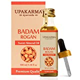 Upakarma badam rogan oil has only 1 ingredient: Pure sweet almond oil. No GMOs, no added ingredients, no Hexane, just natural goodness Perfect for a relaxing massage or soothing aromatherapy. Combine with almond essential oil for an amazing natural b...