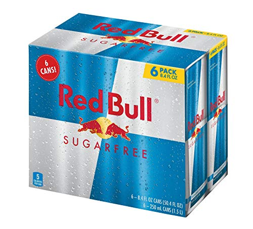 Red Bull Energy Drink Sugar Free, 6 Pack of 8.4 Fl Oz