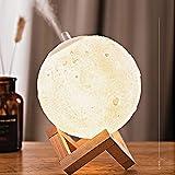 Lámpara de luna en 3D, SUMLINK con de Diámetro Conexión USB Con 3 Colores a Elegir Luz de Ambiente Perfecta para Dormitorio Salón Café Bar