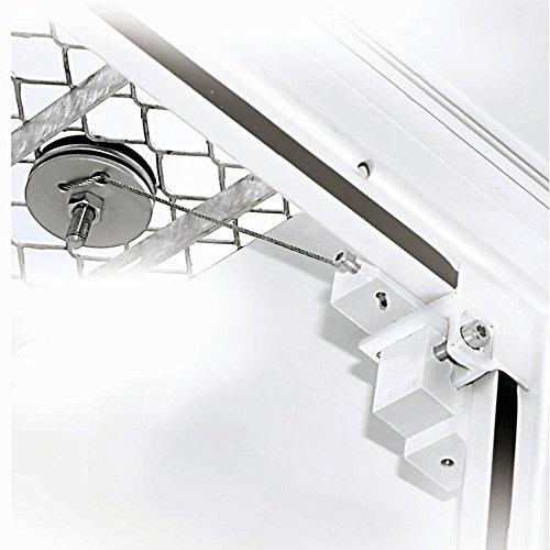 Gitterrostsicherung Protectus mit Stahldraht verzinkt - 1 Paar für 1 Kellerrostsicherung - Lichtschacht Schutz gegen Einbrüche