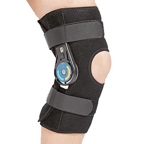 AOPAWOX Knieorthese,einstellbare Tibiaunterstützung, laterale/mediale Bänder (ACL, MCL, LCL), Meniskus, Fußballknieverstauchung, Basketball, Ski, Hockey, Laufen