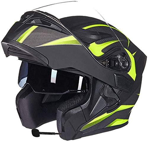 Motorhelm voor mannen en vrouwen, met dubbele lens, open helm, gezichtsmasker, anti-condens, vier seizoenen, bluetooth-helm (handschoenen, bril, maskers, 4 systemen)