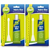 2pk Fabric Glue by Craft Central | Includes 2 Glue Spreaders and Ebook on Sewing Tips | Extra Strong and Large...
