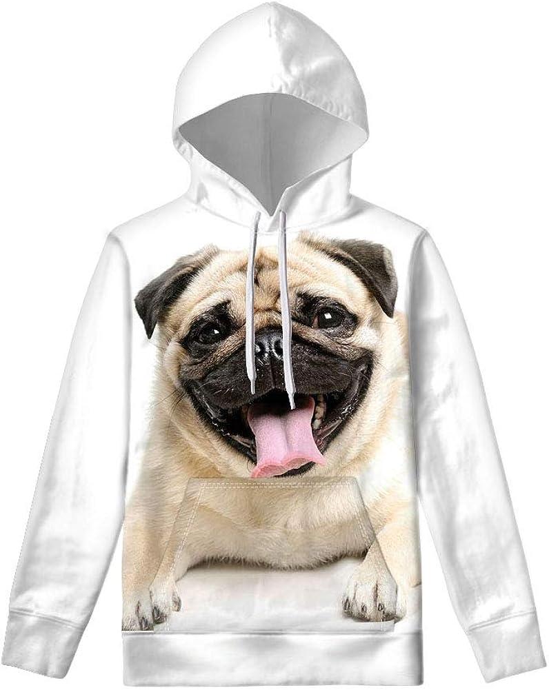 WELLFLYHOM Womens Cute Animal Print Hoodie Sweatshirt Drawstring Long Sleeve Pullover Tops with Pocket