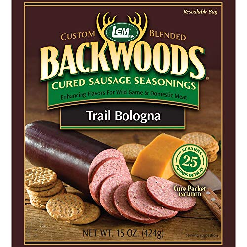 LEM Backwoods Cured Sausage Seasoning with Cure Packet, Trail Bologna