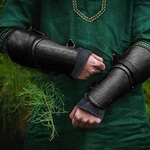 juman634 Guardia de antebrazo de Estilo Medieval Brazo de protección al Aire Libre de Moda Guantes de Cuero Cosplay Muñequera Equipo de protección