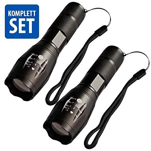 Taschenlampe LED 1000 Lumen Militär CREE LED IP66 Wasserdicht Sehr Hell und Weit für Outdoor Camping Hundespaziergang Taschenlampe für Männer Frauen Kindertaschenlampe für Jungen