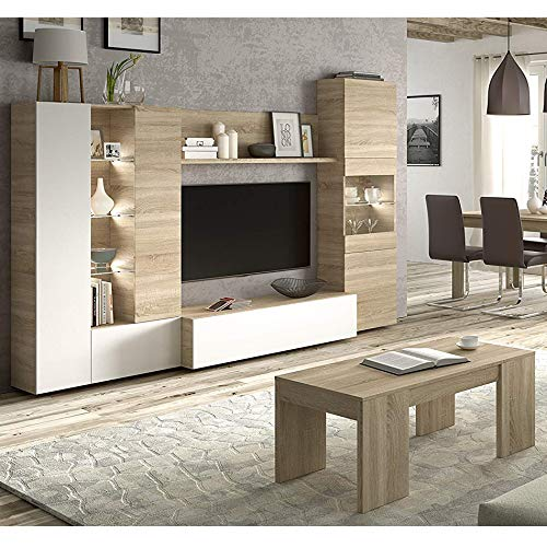 HABITMOBEL Completo Mueble de Salon Comedor con Mesa DE Centro a Juego,...