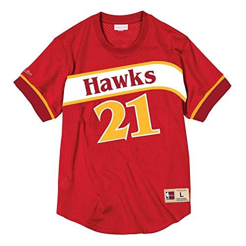 Mitchell & Ness Dominique Wilkins Atlanta Hawks Men's Mesh Jersey Shirt (Large)