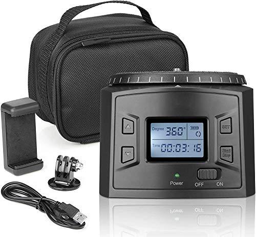 Movo Sevenoak programmierbarer Panorama-Zeitraffer-Stativkopf mit einstellbarem Drehwinkel, Richtung und Geschwindigkeit – kompatibel mit Smartphones, GoPro, spiegellosen und DSLR-Kameras bis zu 2 kg