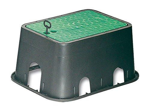 Abrisa Arqueta Grande de riego, Negro/Verde, 420x320x200 mm