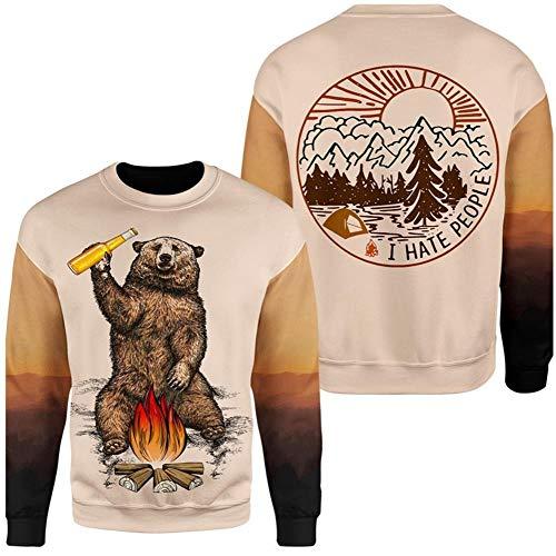 Gama T-Shirt Grizzlies Hommes Pull à Capuche Impression 3D,WH1,4XL