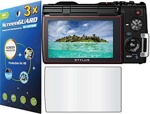 GuarmorShield 3x Olympus rígida TG-850ihs cámara Digital Premium claro LCD Protector de pantalla protector de película (sin cortar, paquete por GUARMOR)