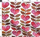 Herz, Struktur, Blatt, Botanisch, Valentinskarte, Rot