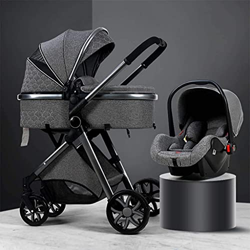 Zhiding Baby Cart 3 in 1 Foldable Buggy 76-Wheeler, Pushchair with Extra Large Air Wheels, for...