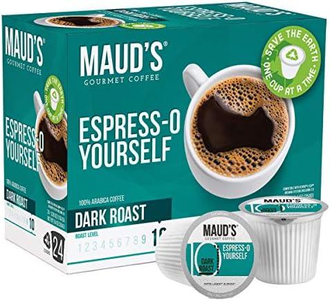 Maud s Espresso Coffee Dark Roast Espress O Yourself 24ct Recyclable Single Serve Coffee Pods product image
