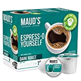 Maud's Espresso Coffee Dark Roast (Espress-O Yourself), 24ct. Recyclable Single Serve Coffee Pods - Richly Satisfying Arabica Beans California Roasted, Keurig Espresso KCup Compatible Including 2.0