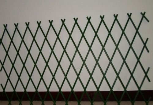 3 x Green Expanding Plastic Garden Trellis 180 X 40cm 1.8m PVC