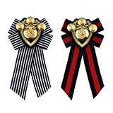 Homyl Pin Spilla Collana Artificiale Vestiti Bow Tie Corsage Distintivo Decorazione Access...