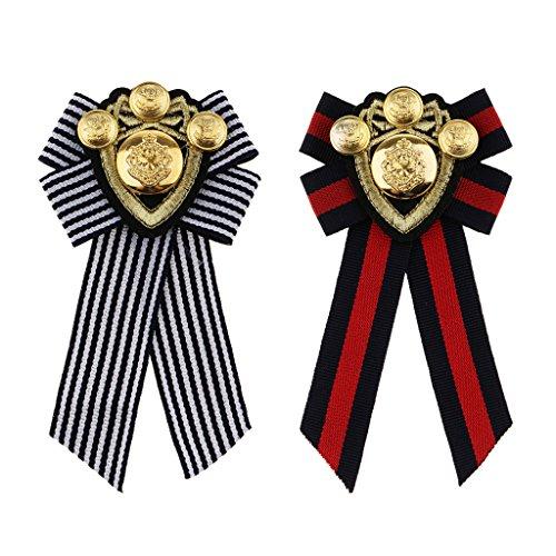 Homyl Pin Spilla Collana Artificiale Vestiti Bow Tie Corsage Distintivo Decorazione Accessori