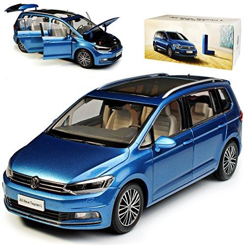 Paudi Volkwagen Touran II Blau Metallic 2. Generation Ab 2015 1/18 Modell Auto