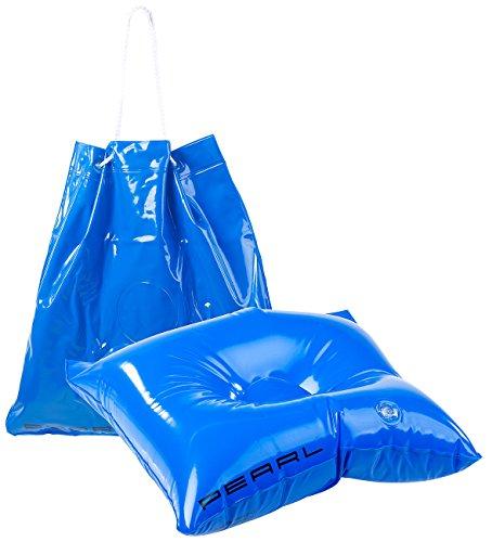 PEARL Aufblasbare Tasche: 2in1-Strandtasche und aufblasbares Schwimmkissen, 31 x 33 cm (Aufblasbares Kissen Schwimmen)
