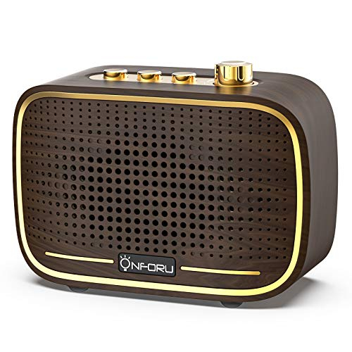Onforu Retro Bluetooth Speaker, Portable Vintage Wireless Speaker with Loud Stereo Sound, Bluetooth 5.0 Indoor Speakerwith20HPlaytime for Bedroom, Living Room, Bathroom, Office and Home