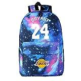 AUGYUESS Basketball Player Star Bryant Backpack School Bag Daypack Bookbag Shoulder Bag